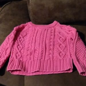 Gap  pink cable knit sweater 18-24 months